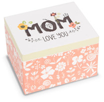 Mom by Love You More - 2.25 x 2 x 1.5 MDF Trinket  Box