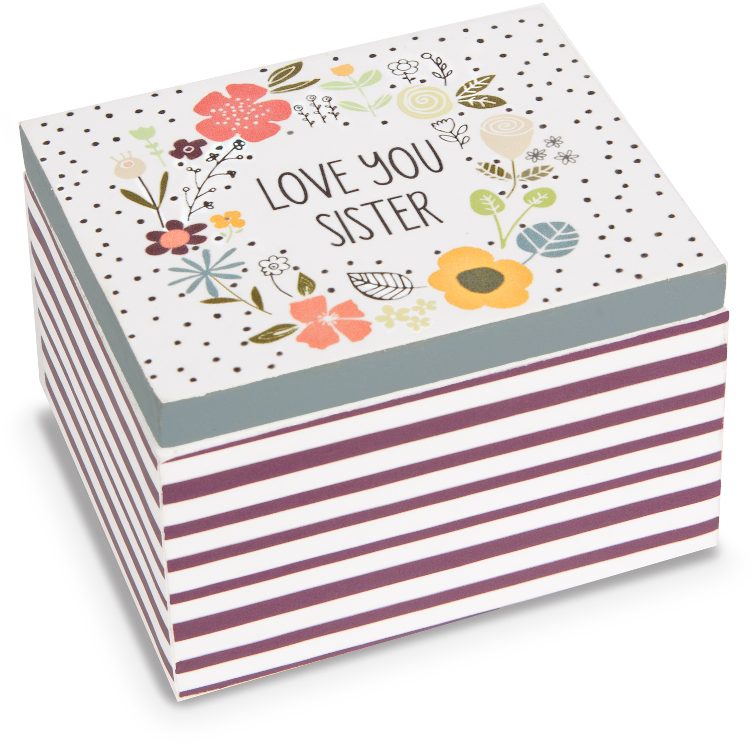 Sister by Love You More - Sister - 2.25 x 2 x 1.5 MDF Trinket  Box