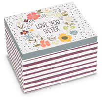 Sister by Love You More - 2.25 x 2 x 1.5 MDF Trinket  Box