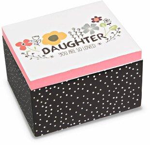 Daughter by Love You More - 2.25 x 2 x 1.5 MDF Trinket  Box