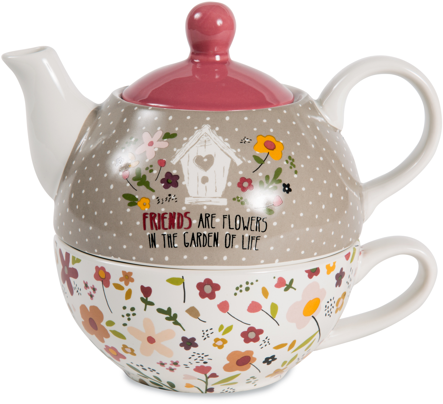 Friends by Bless My Bloomers - Friends - 15oz Teapot & 8oz Cup