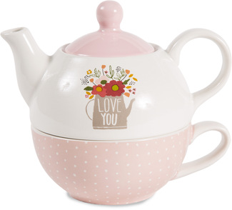 Love You by Bless My Bloomers - 15oz Teapot & 8oz Cup