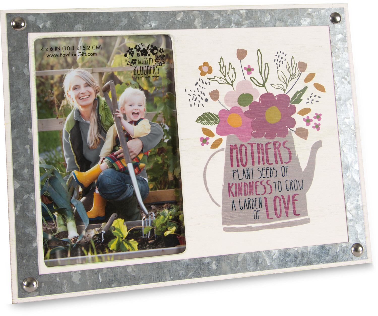 "Mother by Bless My Bloomers - Mother - 9.5"" x  7"" Frame (Holds 4"" x 6"" Photo)"