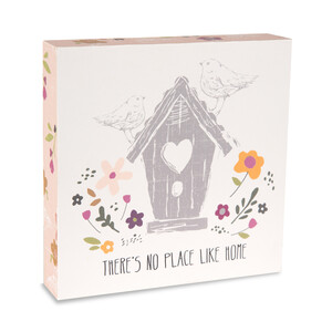 "Home by Bless My Bloomers - 5"" x 5"" Plaque"