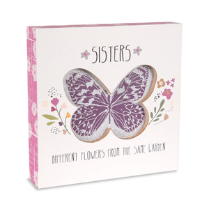 "Sister by Bless My Bloomers - 5"" x 5"" Plaque"