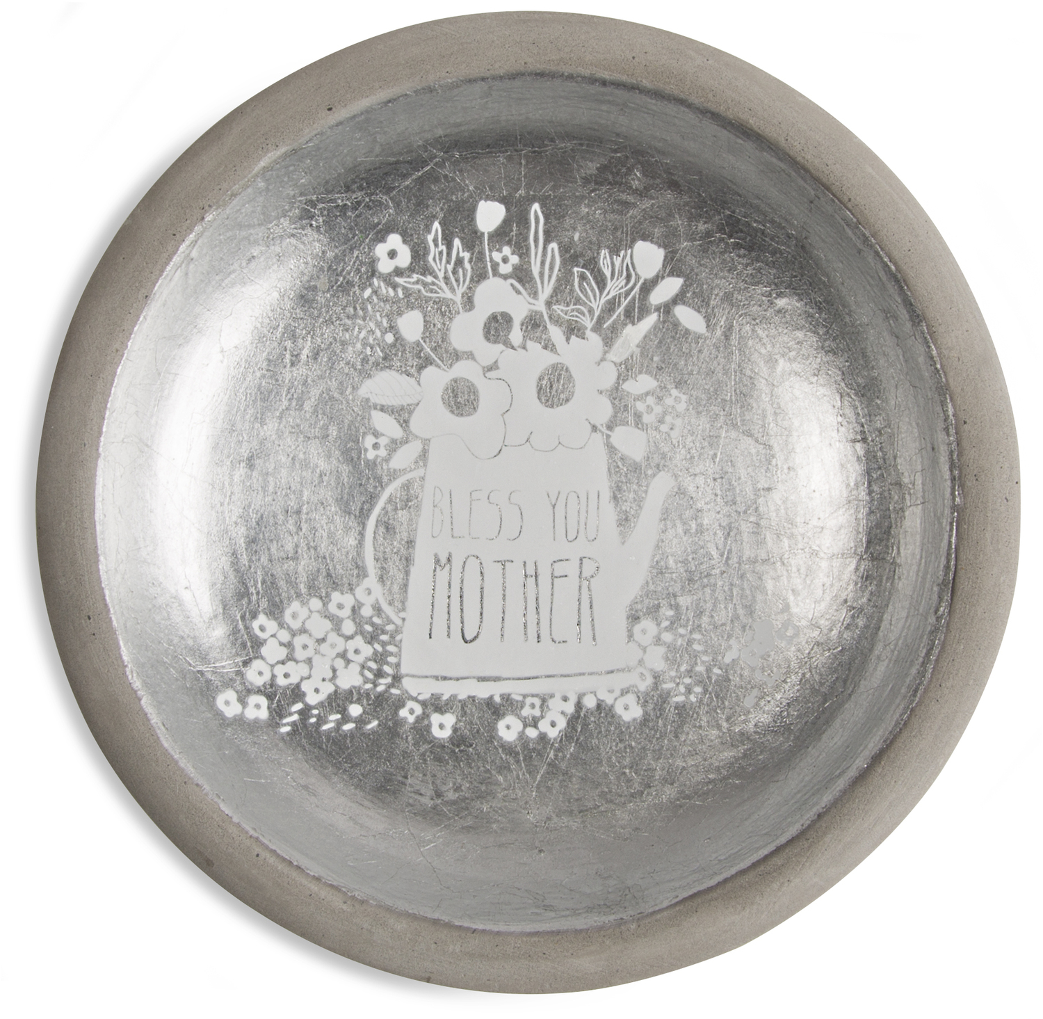 "Mother by Bless My Bloomers - Mother - 5"" Cement Keepsake Dish"