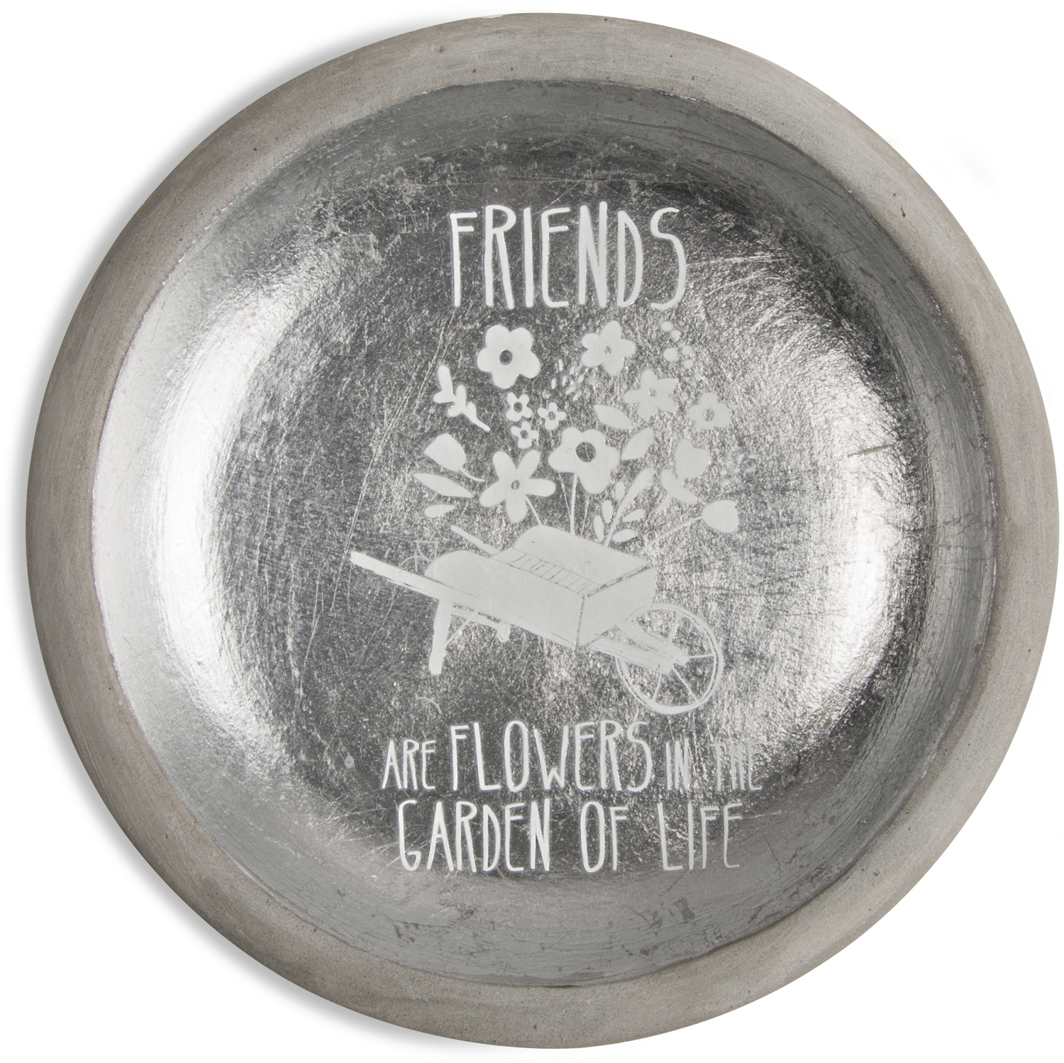 "Friends by Bless My Bloomers - Friends - 5"" Cement Keepsake Dish"