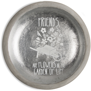 "Friends by Bless My Bloomers - 5"" Cement Keepsake Dish"