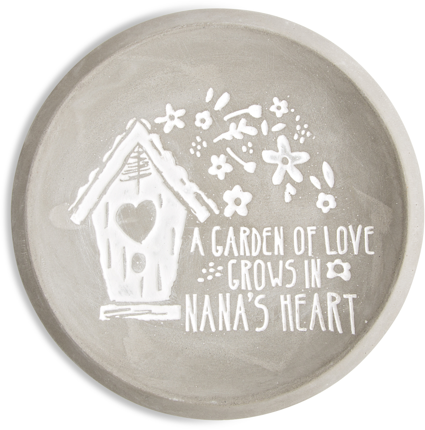 "Nana by Bless My Bloomers - Nana - 5"" Cement Keepsake Dish"
