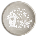 "Nana by Bless My Bloomers - 5"" Cement Keepsake Dish"