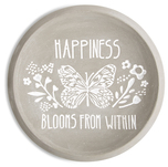 "Happiness by Bless My Bloomers - 5"" Cement Keepsake Dish"