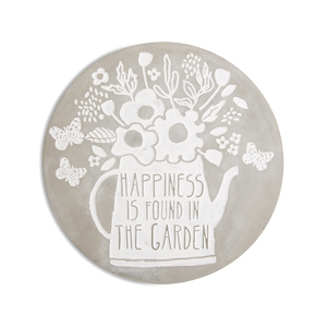 "Happiness by Bless My Bloomers - 7"" Cement Stepping Stone"