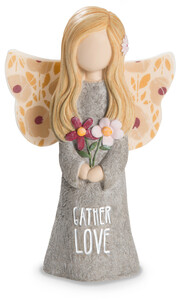 "Gather Love by Bless My Bloomers - 5"" Child Angel Figurine"