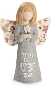 "Sister by Bless My Bloomers - 5"" Child Angel Figurine"
