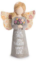 "Harvest Love by Bless My Bloomers - 5"" Child Angel Figurine"