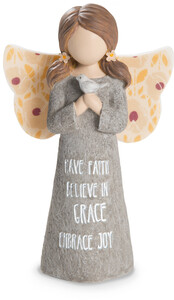 "Faith by Bless My Bloomers - 5"" Child Angel Figurine"