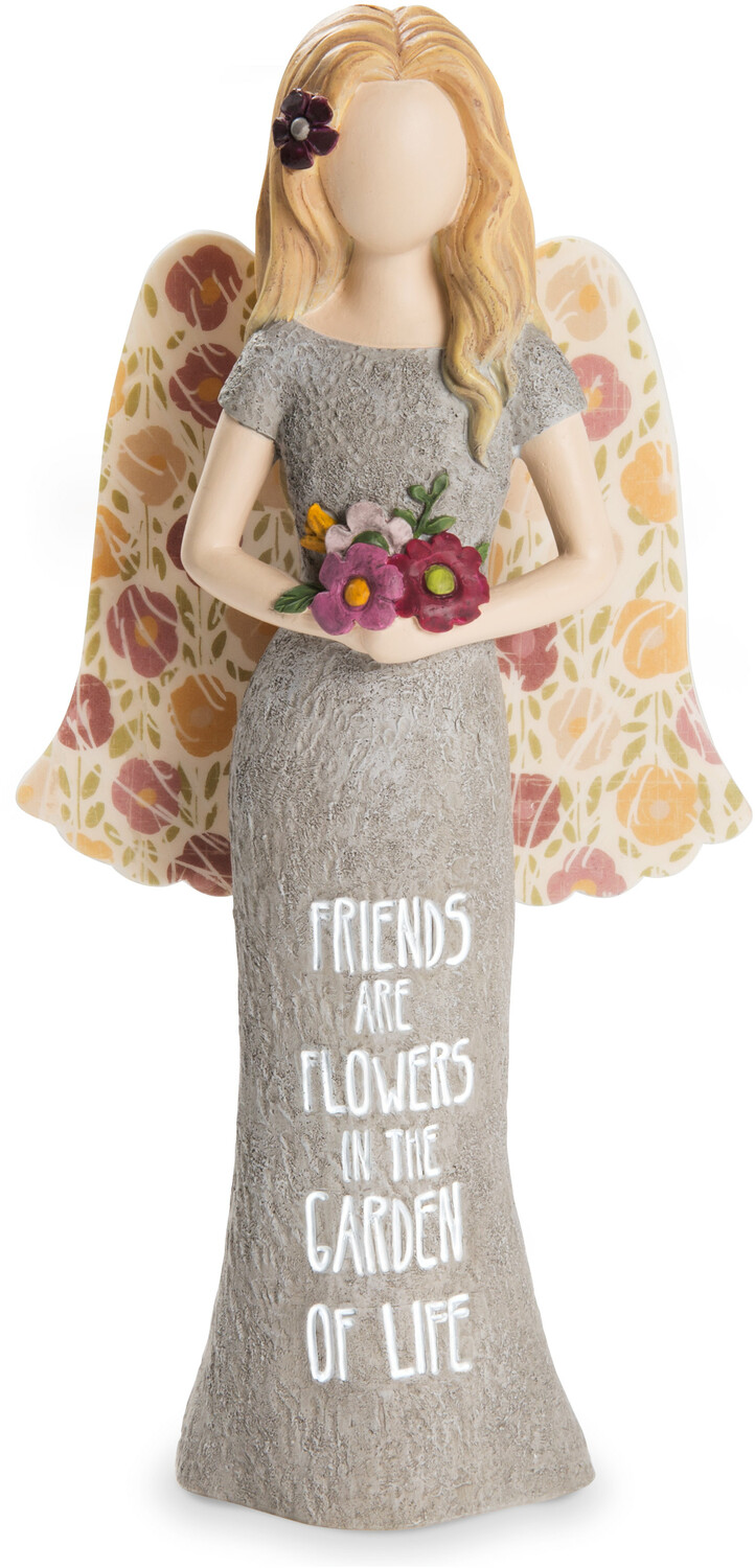 "Friends by Bless My Bloomers - Friends - 7.5"" Adult Angel Figurine"