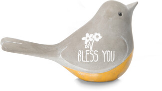 "Bless You by Bless My Bloomers - 3"" Cement Bird"