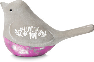 "Mom by Bless My Bloomers - 3.5"" Cement Bird"