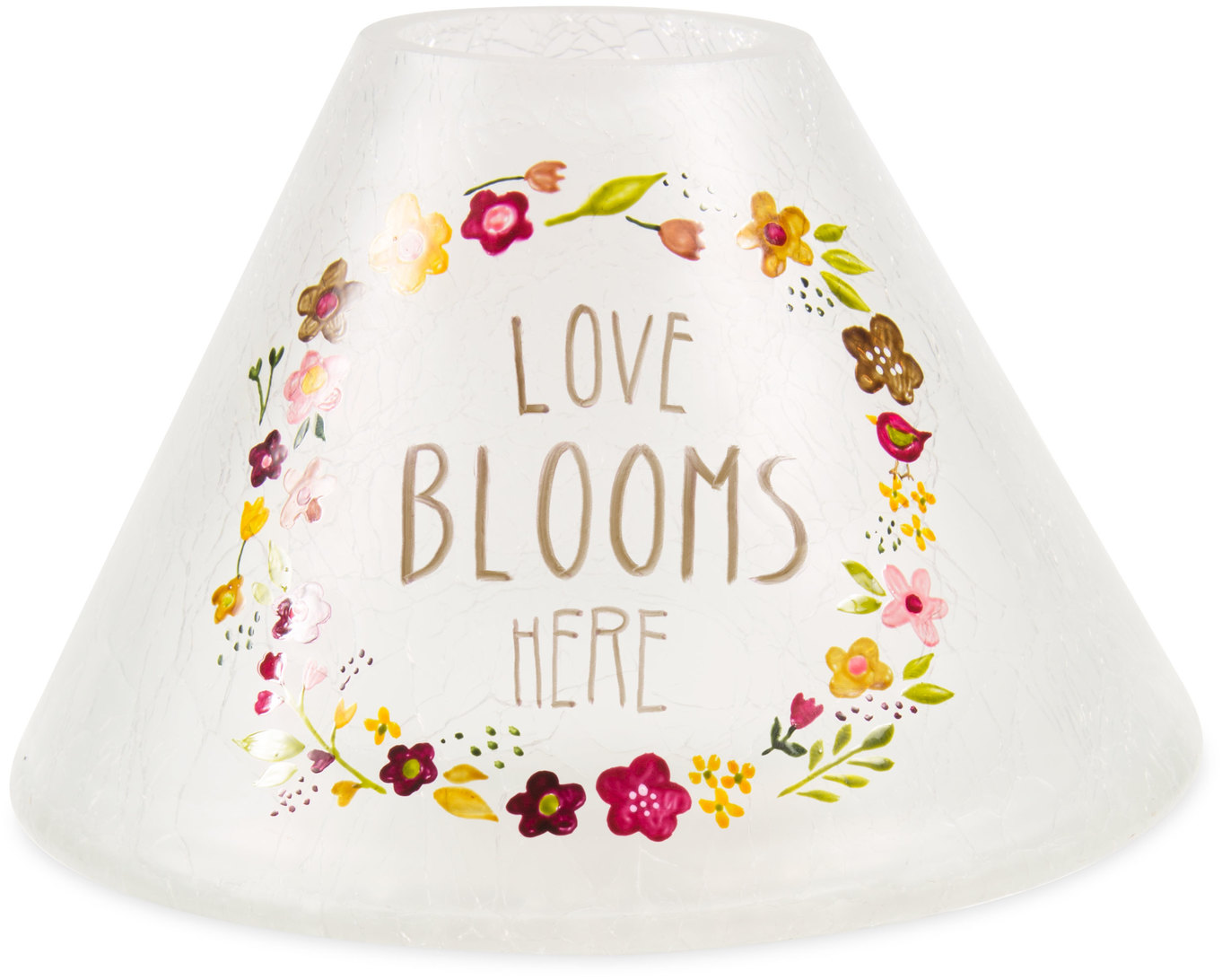 Love Blooms Here by Bless My Bloomers - Love Blooms Here - Large Candle Shade