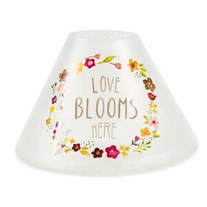 Love Blooms Here by Bless My Bloomers - Large Candle Shade