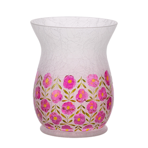 Pink Floral by Bless My Bloomers - Jar Candle Holder
