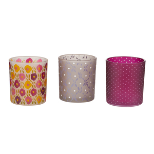 Patterned Tealights by Bless My Bloomers - 3 Assorted Tealight Holders