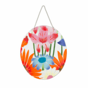 "Wild Flowers by Fusion Art Glass - 7"" Sun Catcher"