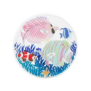 "Marine Life by Fusion Art Glass - 11"" Round Plate"