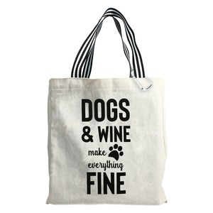 Dogs & Wine by Check Me Out - 100% Cotton Twill Gift Bag