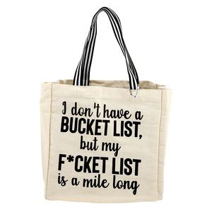Bucket List by Check Me Out - 100% Cotton Twill Gift Bag