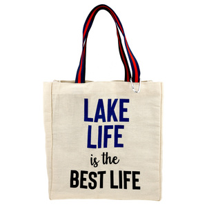 Lake Life by Check Me Out - 100% Cotton Twill Gift Bag