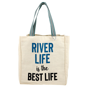 River Life by Check Me Out - 100% Cotton Twill Gift Bag