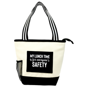 My Lunch Time by Check Me Out - Insulated Canvas Lunch Tote