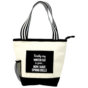 Winter Fat by Check Me Out - Insulated Canvas Lunch Tote