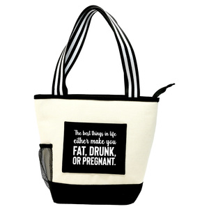 The Best Things in Life by Check Me Out - Insulated Canvas Lunch Tote