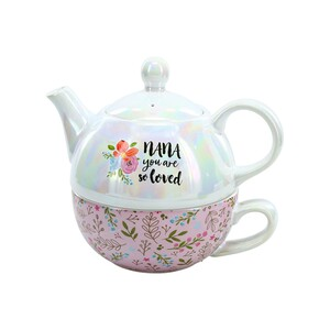 Nana by Bunches of Love - Tea for One (14.5 oz Teapot & 10 oz Cup)