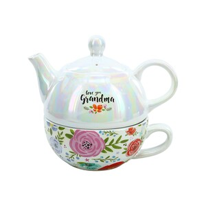 Grandma by Bunches of Love - Tea for One (14.5 oz Teapot & 10 oz Cup)