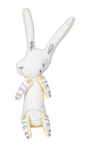 "Baxter the Bunny by Stitched & Stuffed - 14"" Bunny Stuffed Animal/Door Stopper"