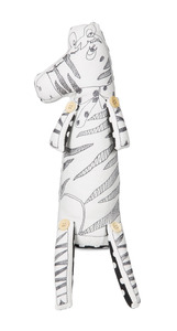 "Zoe the Zebra by Stitched & Stuffed - 16"" Zebra Stuffed Animal/Door Stopper"