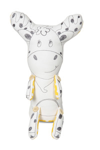 "Murphy the Moose by Stitched & Stuffed - 11"" Moose Stuffed Animal/Door Stopper"