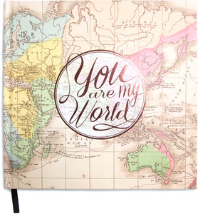 "You are my World by Global Love - 8"" x 8"" Decorative Journal (160 Pages)"