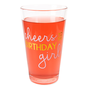 Birthday Girl by Happy Occasions - 16 oz Pint Glass Tumbler