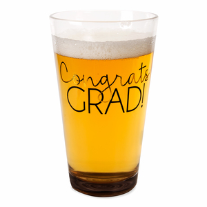 Grad by Happy Occasions - 16 oz Pint Glass Tumbler