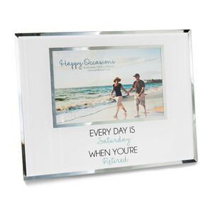 "Retired by Happy Occasions - 9.25"" x 7.25"" Frame (Holds 6"" x 4"" Photo)"
