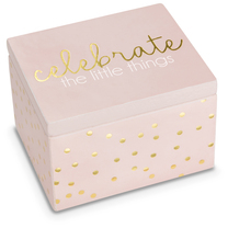 Celebrate by Happy Occasions - 2.25 x 2 x 1.5 MDF Keepsake Box