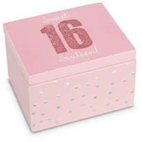 Sixteen by Happy Occasions - 2.25 x 2 x 1.5 MDF Keepsake Box