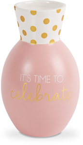 "Celebrate by Happy Occasions - 6.5"" Bone China Vase"
