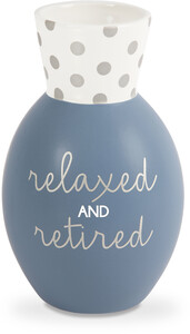 "Relaxed by Happy Occasions - 6.5"" Bone China Vase"