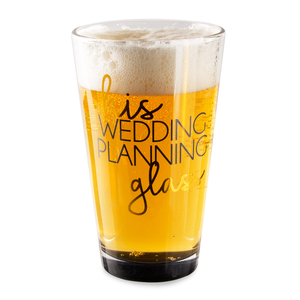His Glass by Happy Occasions - 16 oz Pint Glass Tumbler